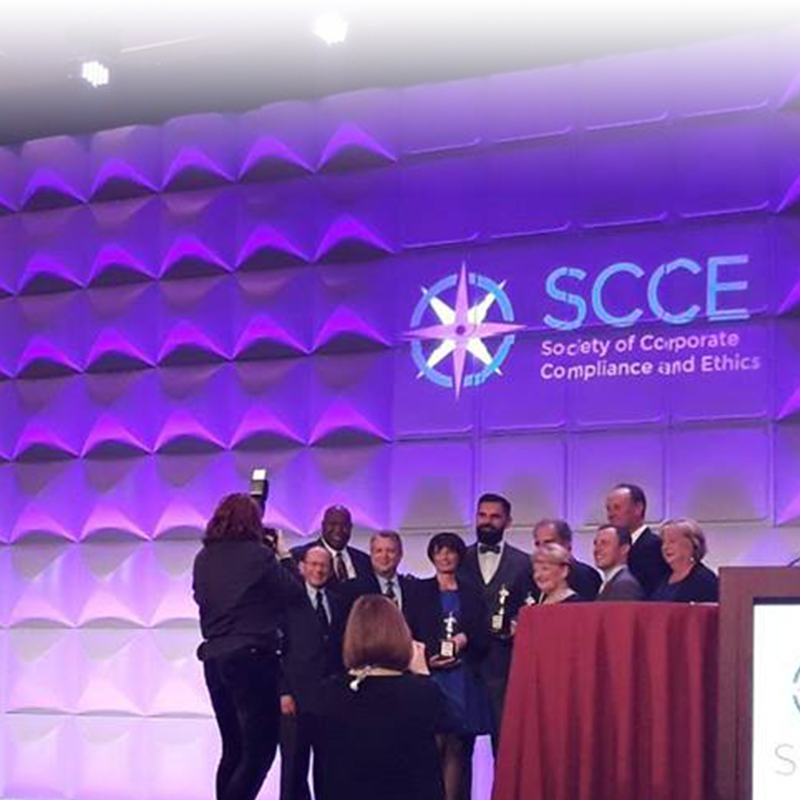 WEFEC President Bojan Bajic received the International Compliance and Ethics Award from the SocietyofCorporate Complianceand Ethics from US