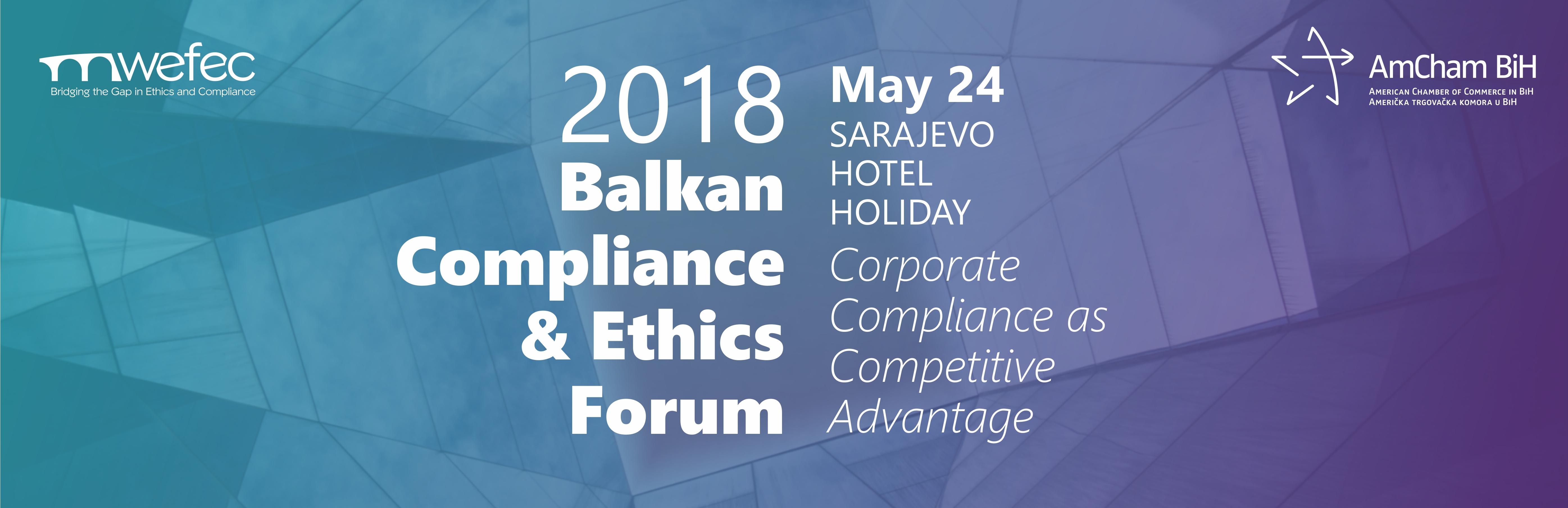 Balkan Compliance and Ethics Forum 2018